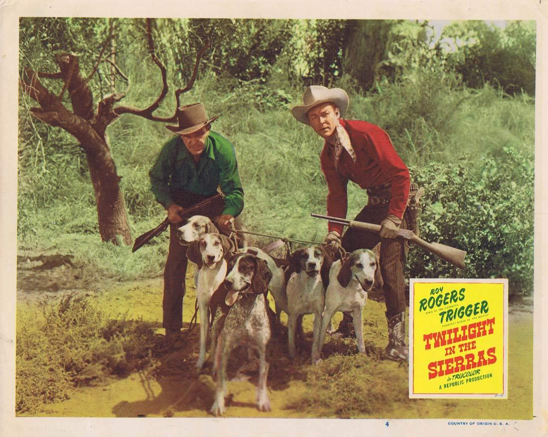 TWILIGHT IN THE SIERRAS Original Lobby Card 4 Roy Rogers Trigger Dale Evans