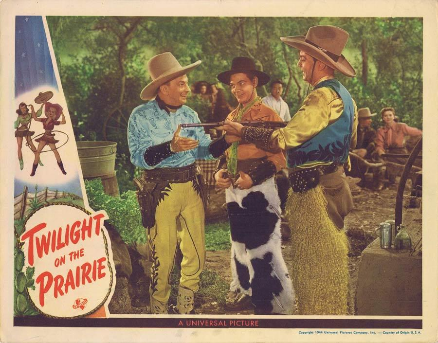 TWILIGHT ON THE PRAIRIE Lobby Card 1944 Leon Errol Western