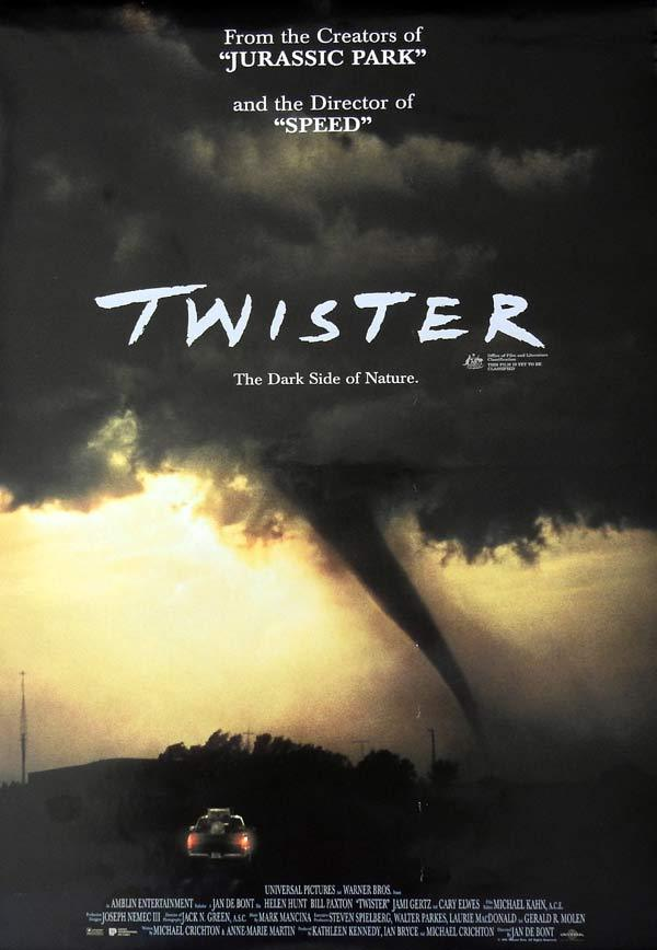 TWISTER Original daybill Movie Poster HELEN HUNT Bill Paxton