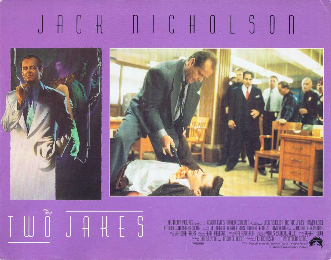 THE TWO JAKES Original Lobby Card Jack Nicholson Harvey Keitel