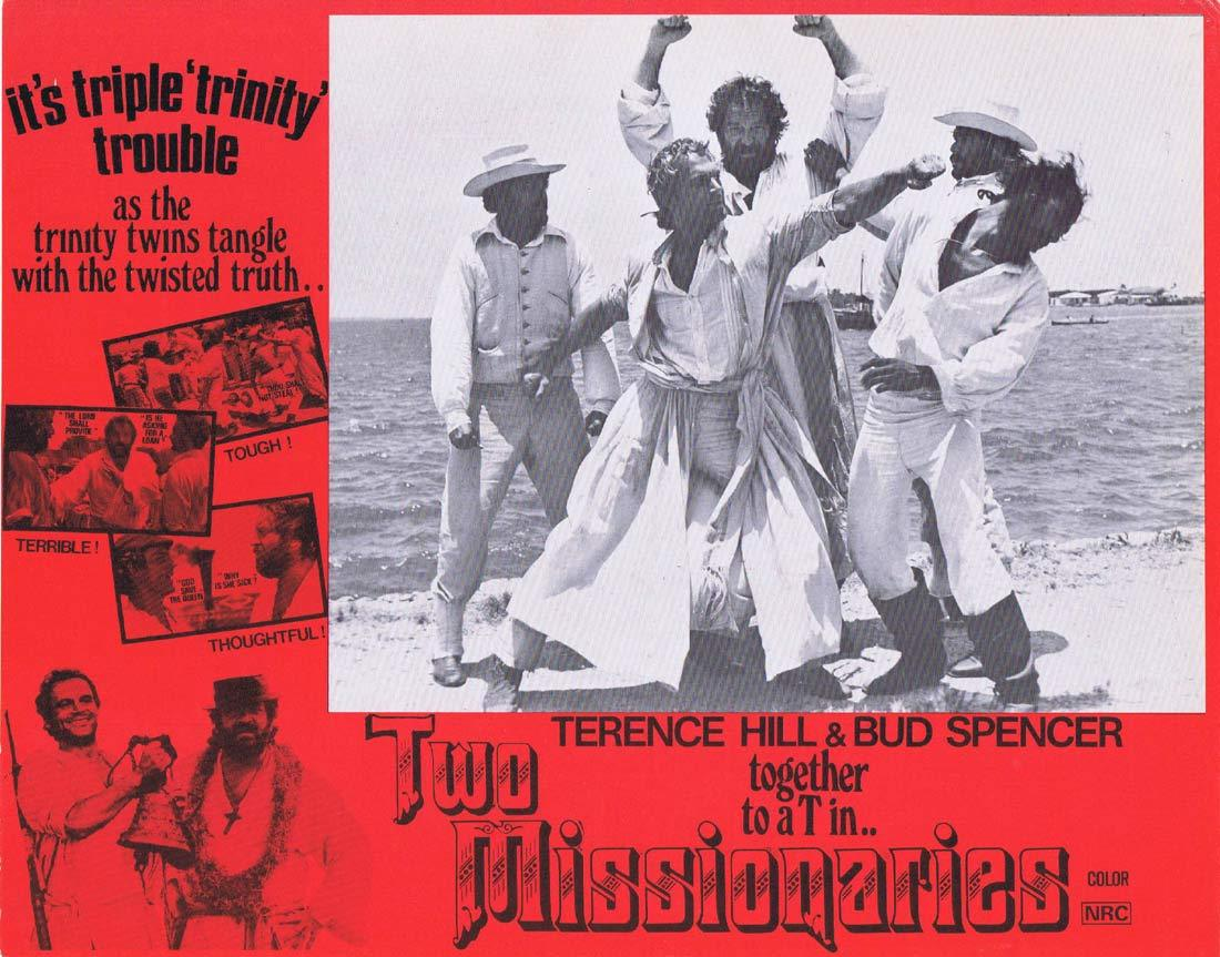 TWO MISSIONARIES Australian Lobby Card 4 Terence Hill Bud Spencer
