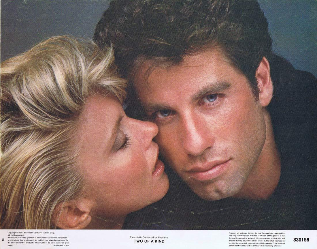 TWO OF A KIND Original Lobby Card 8 John Travolta Olivia Newton-John
