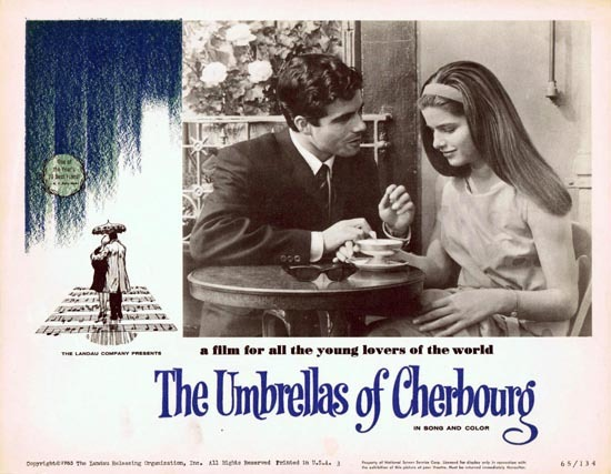 THE UMBRELLAS OF CHERBOURG 1965 US Lobby card 3 Catherine Deneuve