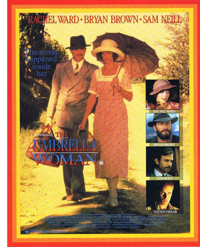 THE UMBRELLA WOMAN Original Movie Herald Sam Neill Bryan Brown Rachel Ward