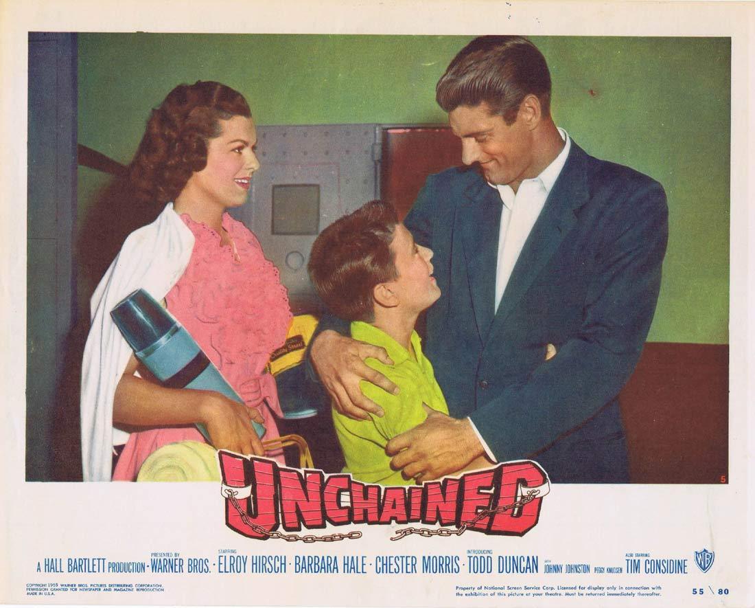 UNCHAINED Lobby Card 5 Elroy 'Crazylegs' Hirsch Barbara Hale