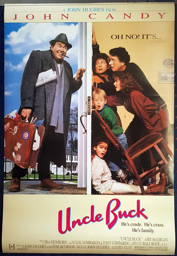 UNCLE BUCK Original DS US One sheet Movie poster John Candy Macaulay Culkin