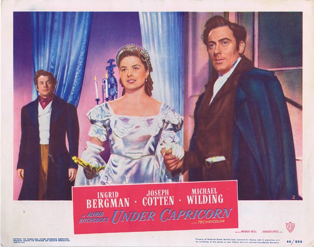 UNDER CAPRICORN Lobby card 2 Alfred Hitchcock Ingrid Bergman