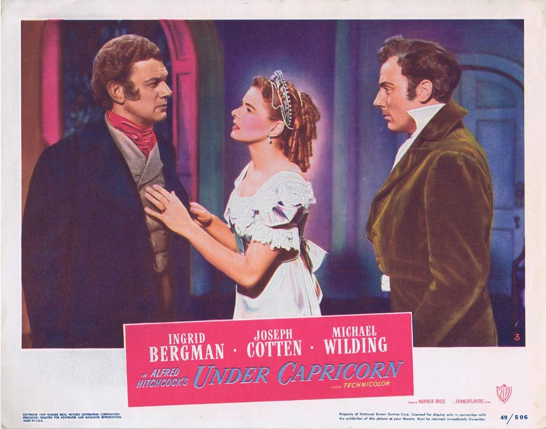 UNDER CAPRICORN Lobby card 3 Alfred Hitchcock Ingrid Bergman