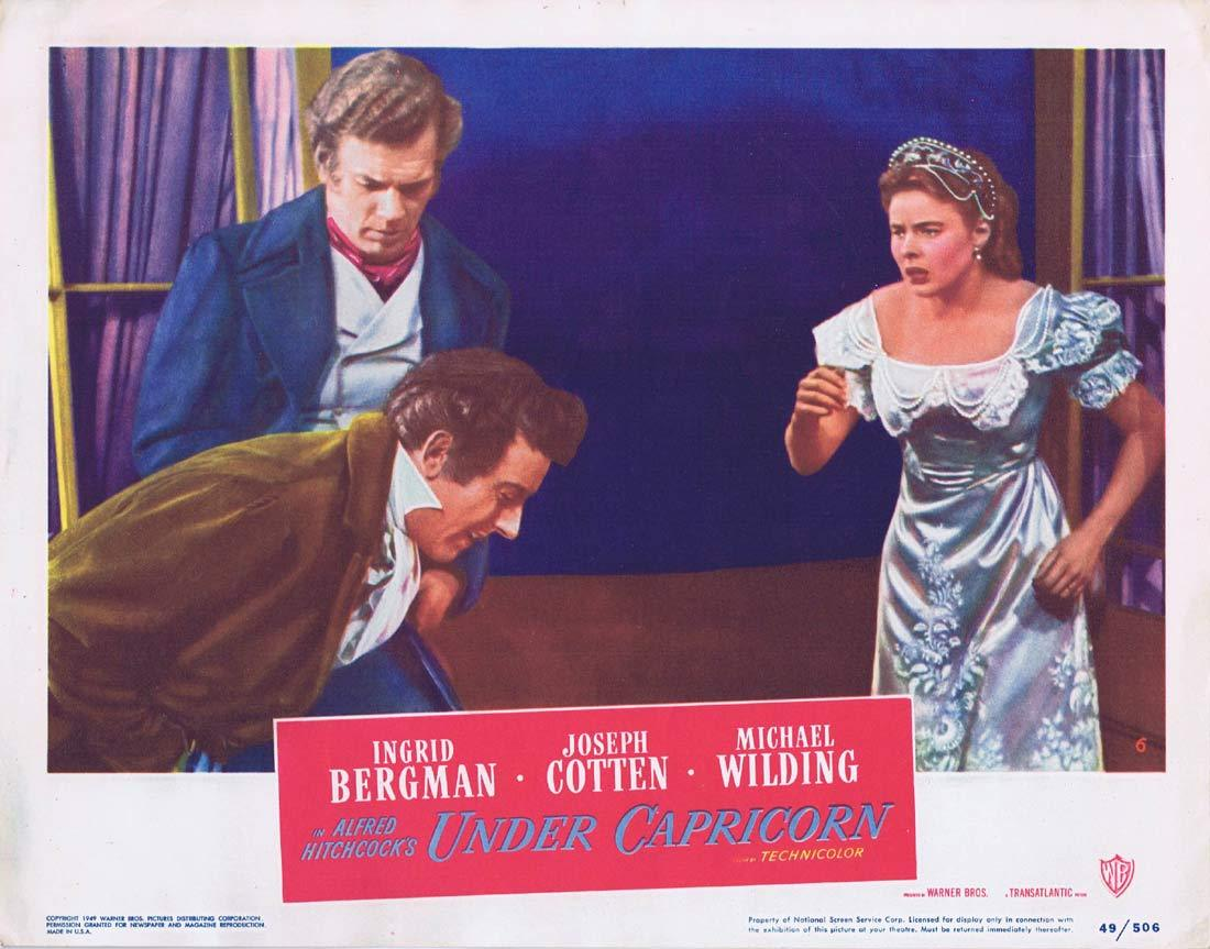 UNDER CAPRICORN Lobby card 6 Alfred Hitchcock Ingrid Bergman