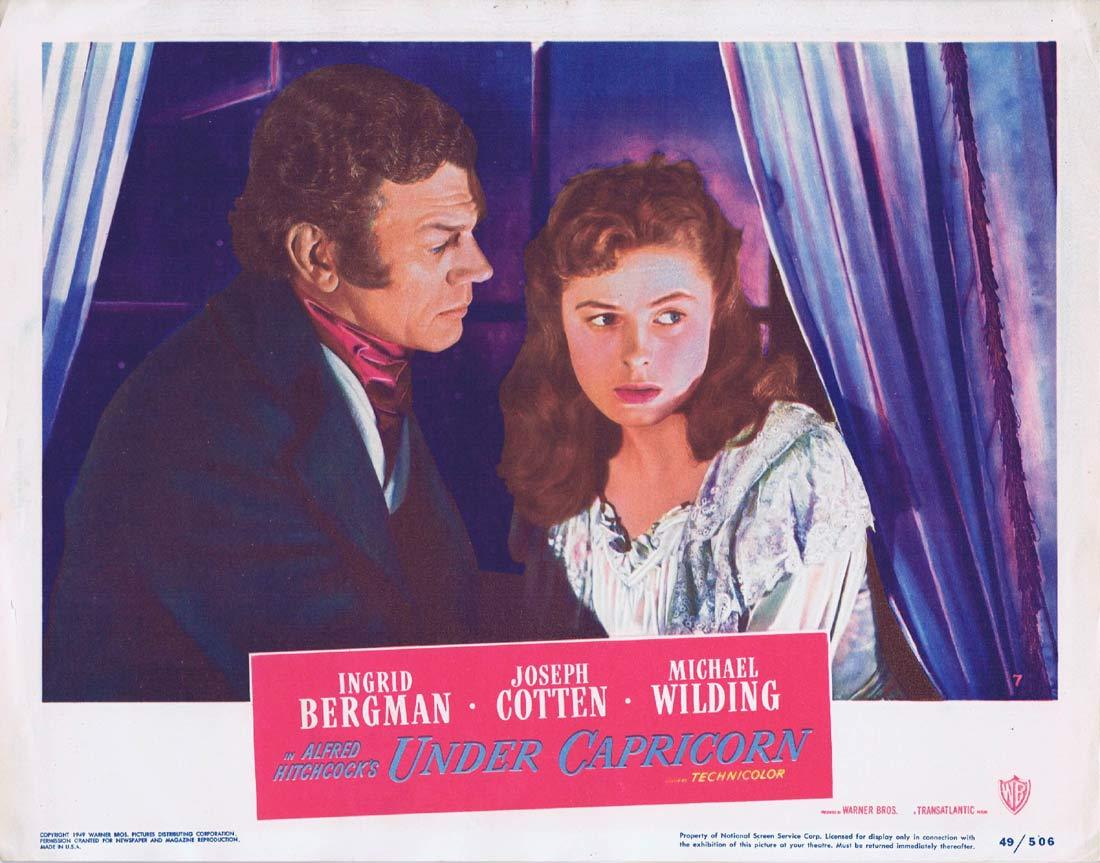 UNDER CAPRICORN Lobby card 7 Alfred Hitchcock Ingrid Bergman