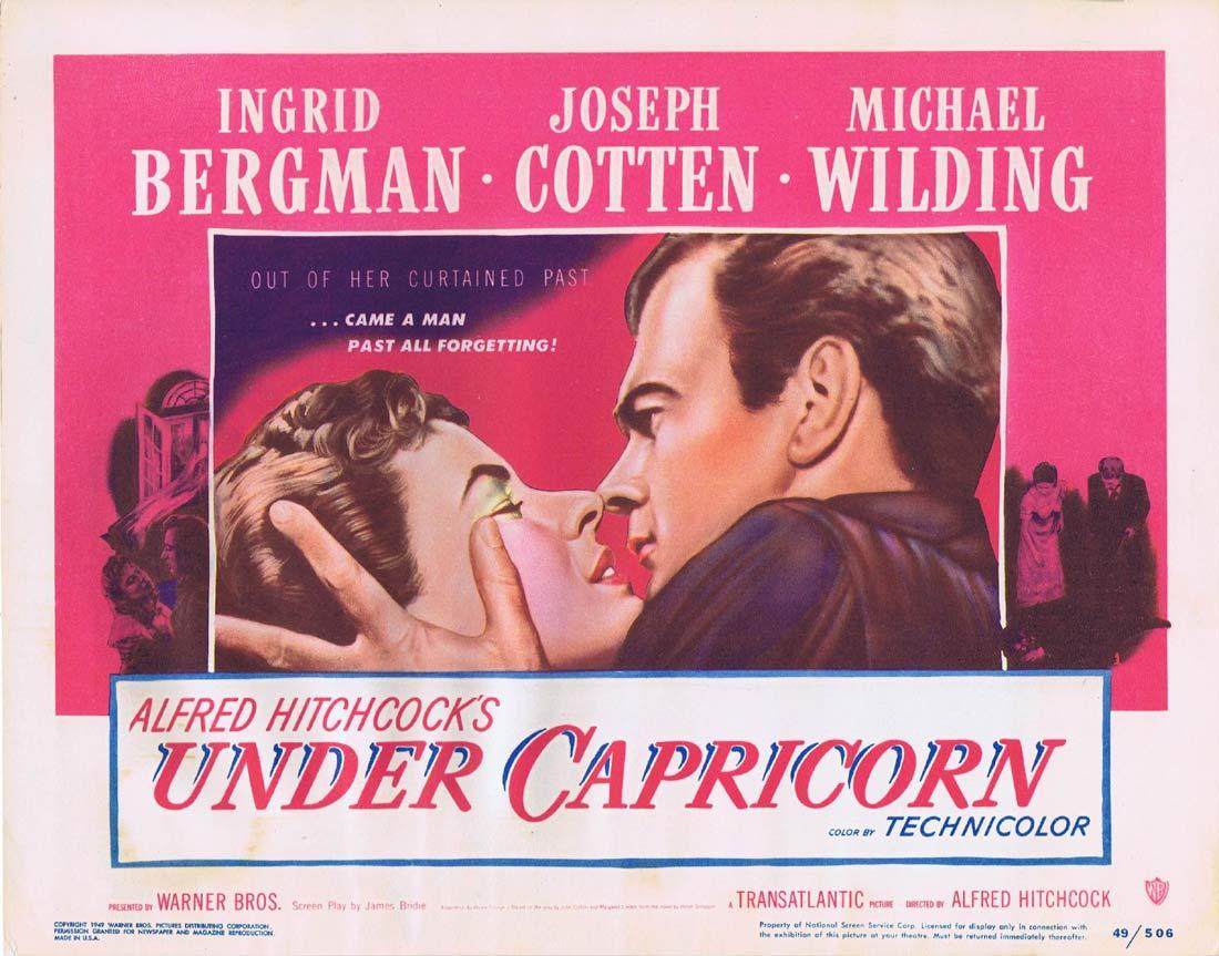 UNDER CAPRICORN Title Lobby card Alfred Hitchcock Ingrid Bergman