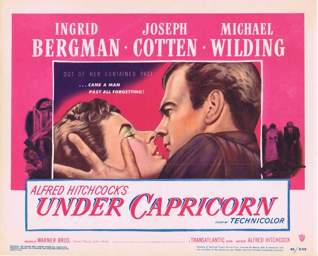 UNDER CAPRICORN Original Title Lobby Card Alfred Hitchcock Ingrid Bergman