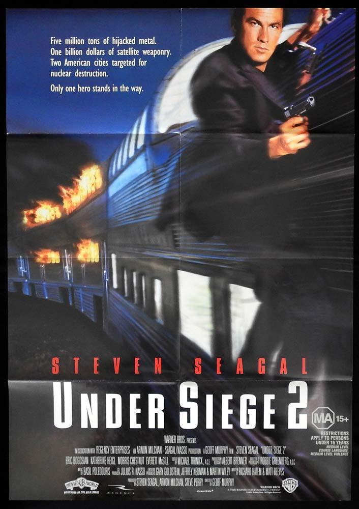 UNDER SIEGE 2 Original One sheet Movie Poster 1995 Steven Seagal