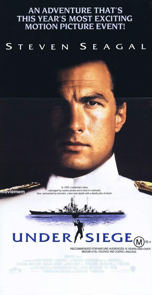 UNDER SIEGE 1992 Steven Seagal ORIGINAL Australian Daybill Movie Poster