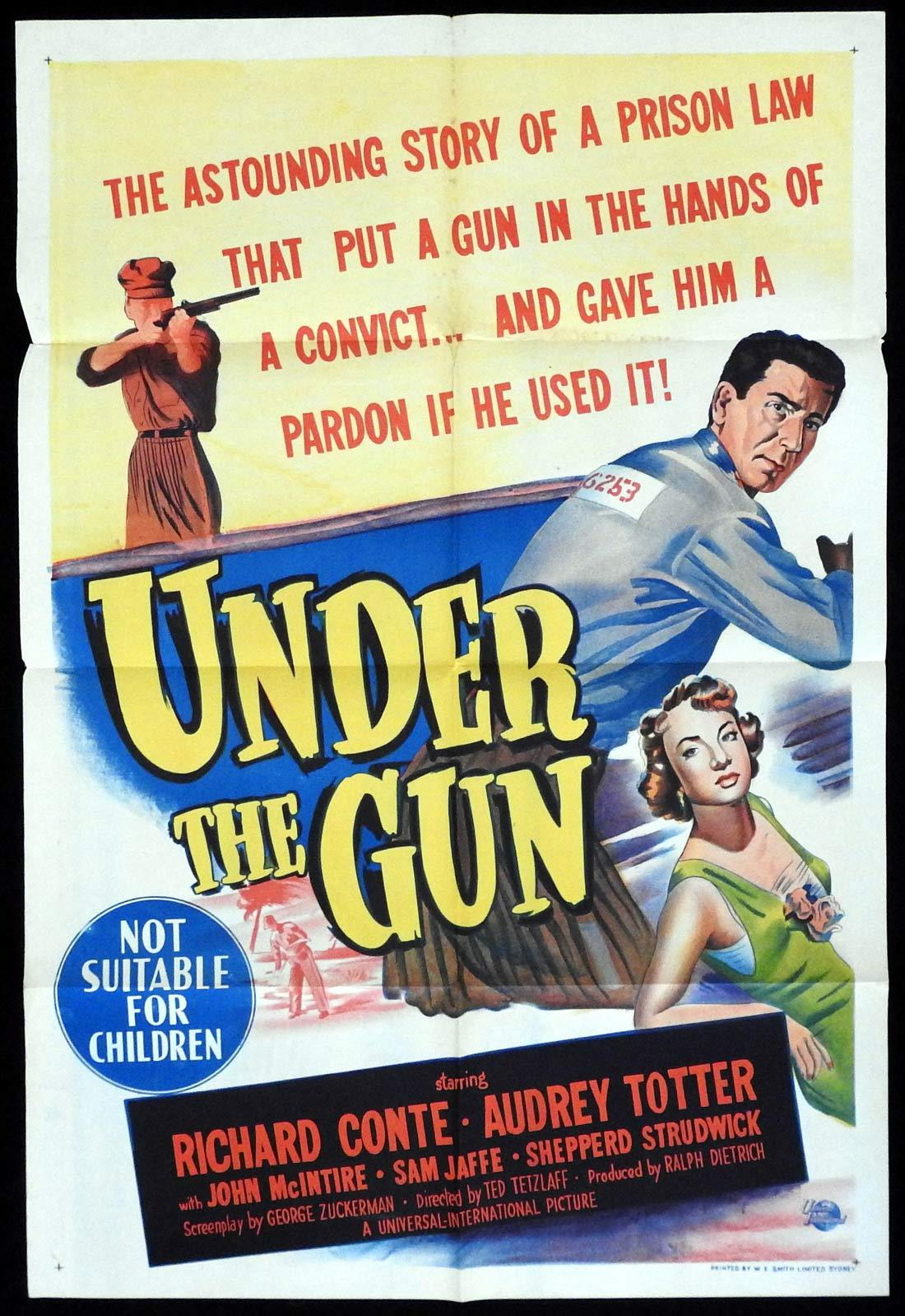 UNDER THE GUN Original One sheet Movie poster