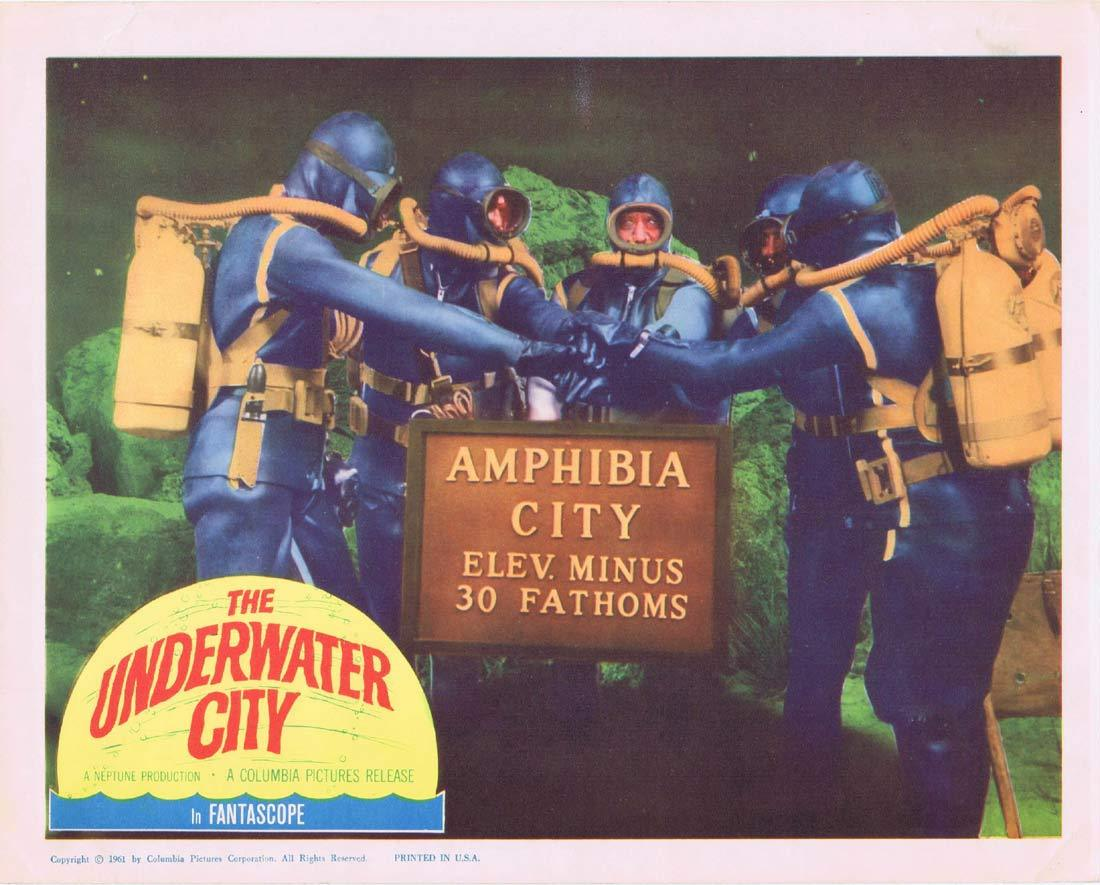 THE UNDERWATER CITY Original Lobby Card 3 William Lundigan Julie Adams