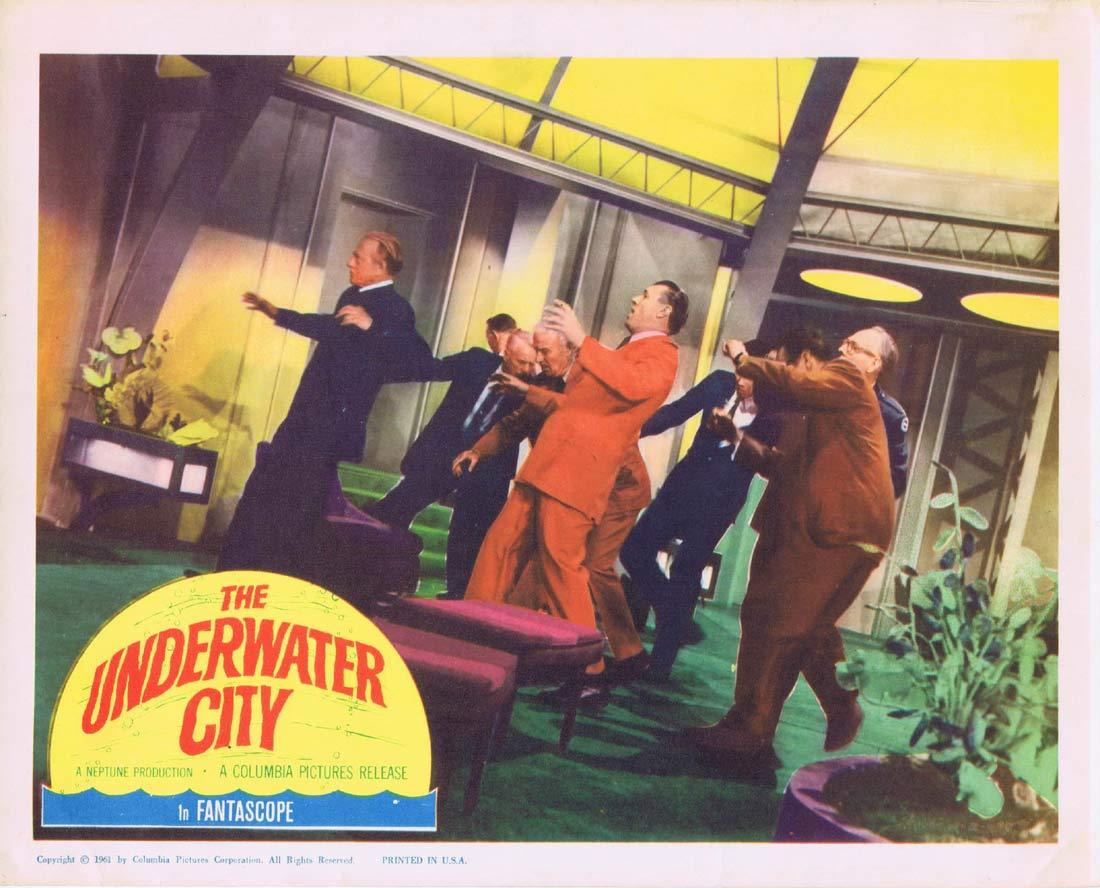 THE UNDERWATER CITY Original Lobby Card 5 William Lundigan Julie Adams