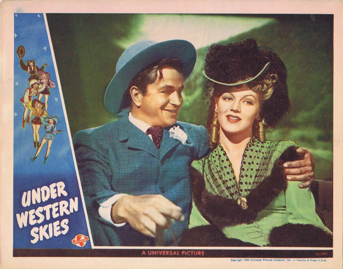 UNDER WESTERN SKIES Original Lobby Card Leo Carrillo Martha O'Driscoll Noah Beery