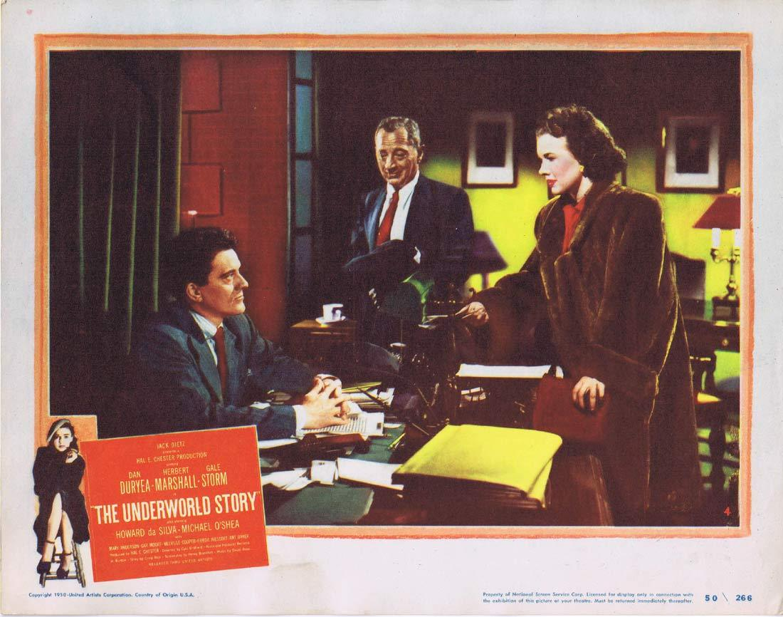 THE UNDERWORLD STORY Original Lobby Card 4 Dan Duryea Herbert Marshall Gale Storm