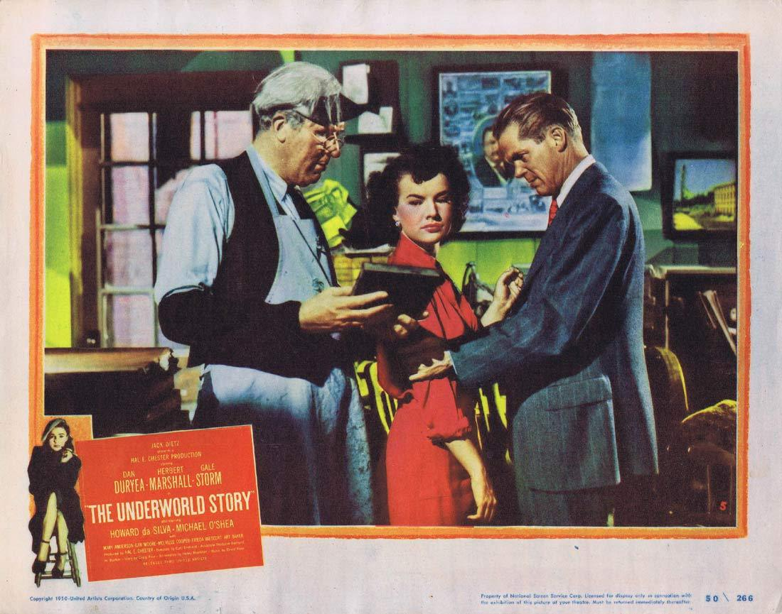 THE UNDERWORLD STORY Original Lobby Card 5 Dan Duryea Herbert Marshall Gale Storm