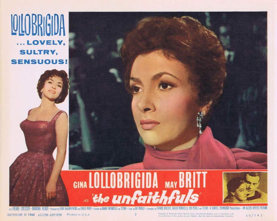 THE UNFAITHFULS Lobby Card 2 Gina Lollobrigida May Britt
