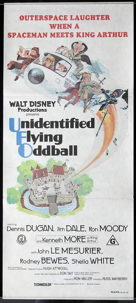UNIDENTIFIED FLYING ODDBALL Original Disney Daybill Movie poster
