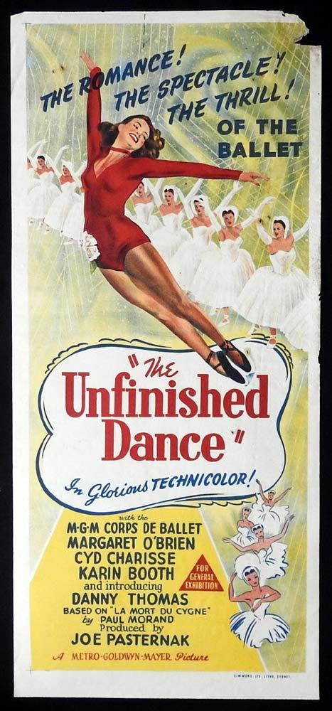 THE UNFINISHED DANCE Original Daybill Movie poster Margaret O'Brien Cyd Charisse