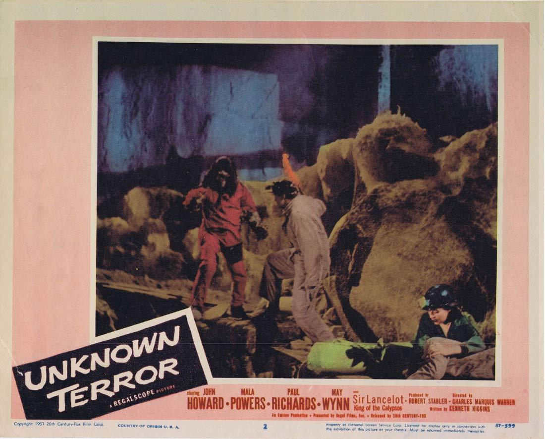 UNKNOWN TERROR Original Lobby Card 2 John Howard Mala Powers