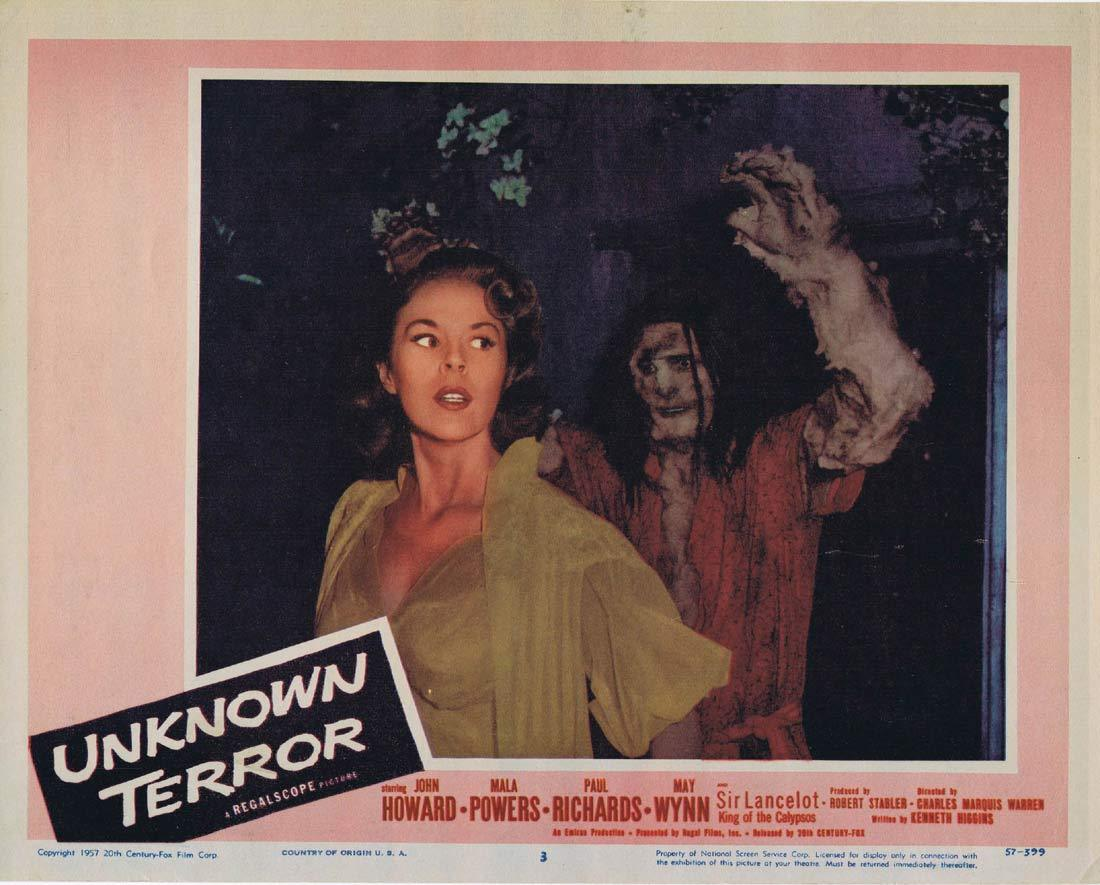 UNKNOWN TERROR Original Lobby Card 3 John Howard Mala Powers