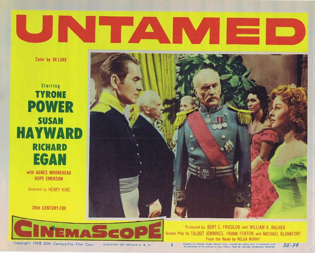 UNTAMED Original Lobby Card 2 Tyrone Power Susan Hayward