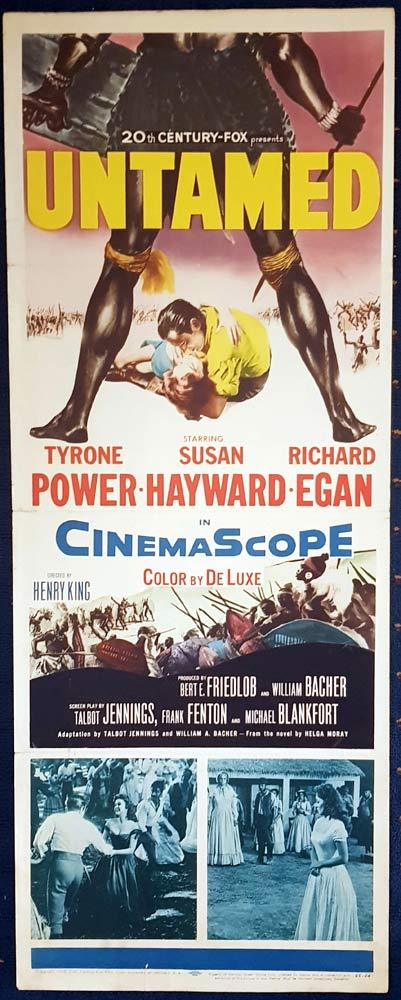 UNTAMED Movie Poster Susan Hayward US Insert