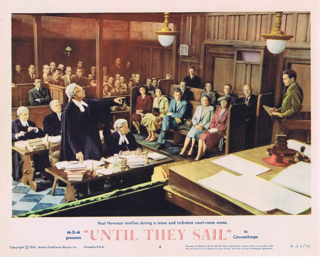 UNTIL THEY SAIL Lobby Card 4 Jean Simmons Joan Fontaine Paul Newman