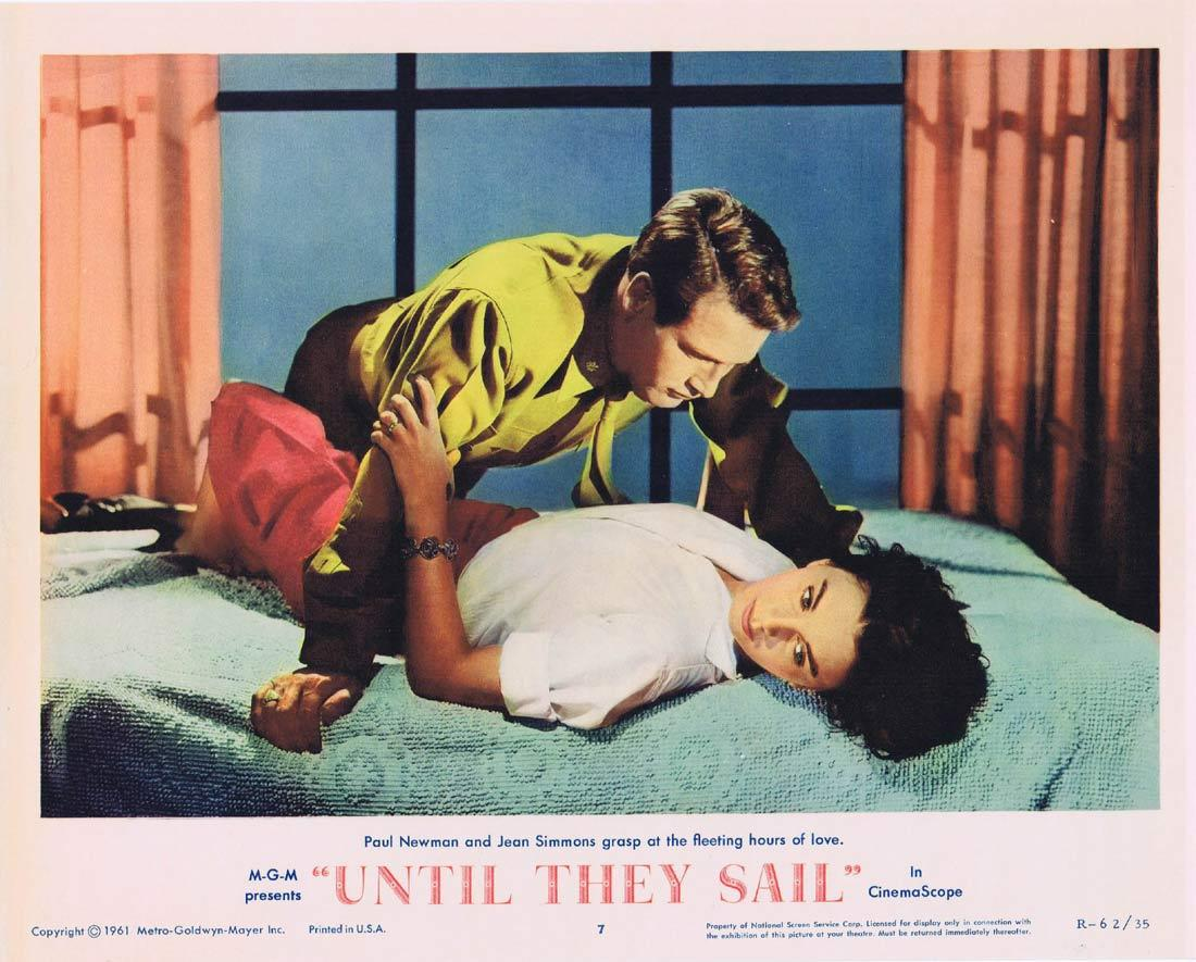 UNTIL THEY SAIL Lobby Card 7 Jean Simmons Joan Fontaine Paul Newman