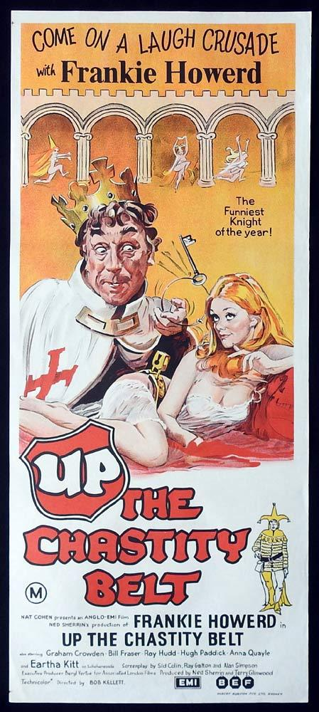 UP THE CHASTITY BELT Original Daybill Movie Poster Frankie Howerd
