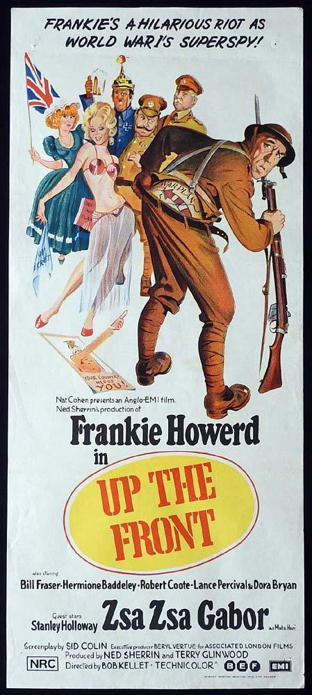UP THE FRONT Original Daybill Movie Poster Frankie Howerd Zsa Zsa Gabor
