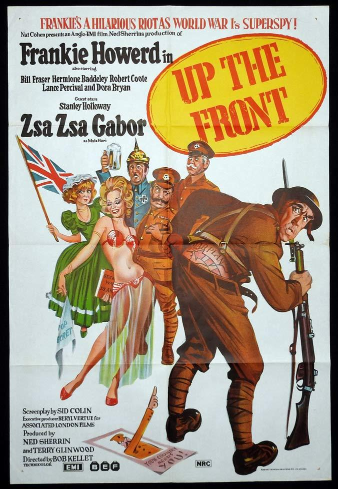 UP THE FRONT Original One sheet Movie poster Frankie Howerd Bill Fraser Hermione Baddeley