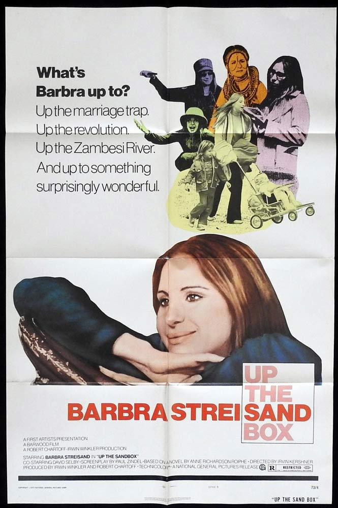 UP THE SANDBOX Original One sheet Movie posterBarbra Streisand David Selby