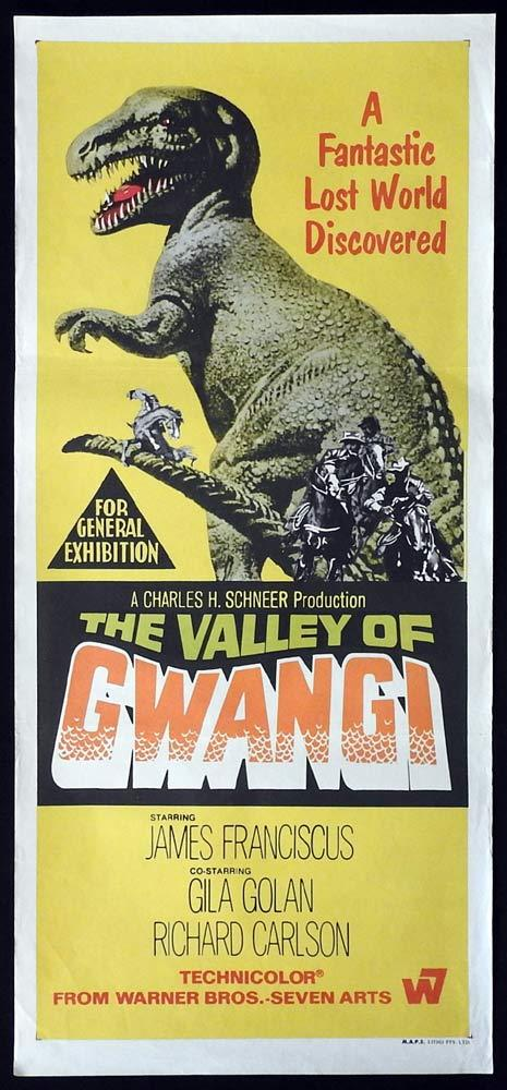 THE VALLEY OF GWANGI Original Daybill Movie Poster William Ray Harryhausen