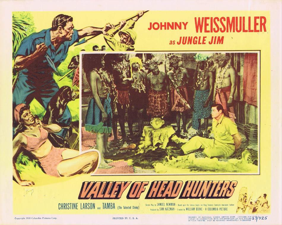 VALLEY OF HEADHUNTERS Lobby Card 3 Jungle Jim Johnny Weissmuller