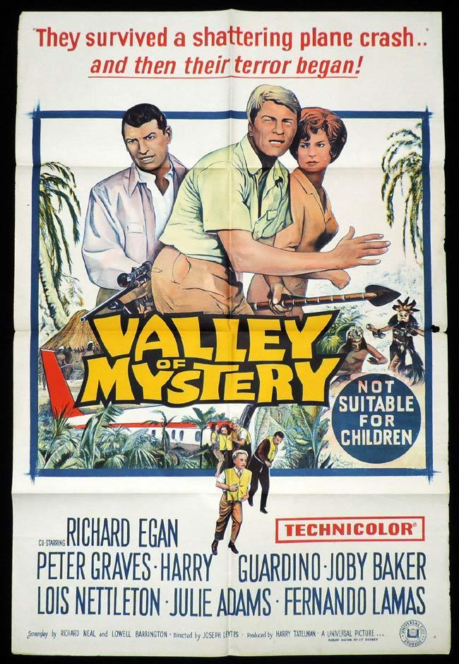 VALLEY OF MYSTERY One Sheet Movie Poster Paul Douglas Grace Kelly