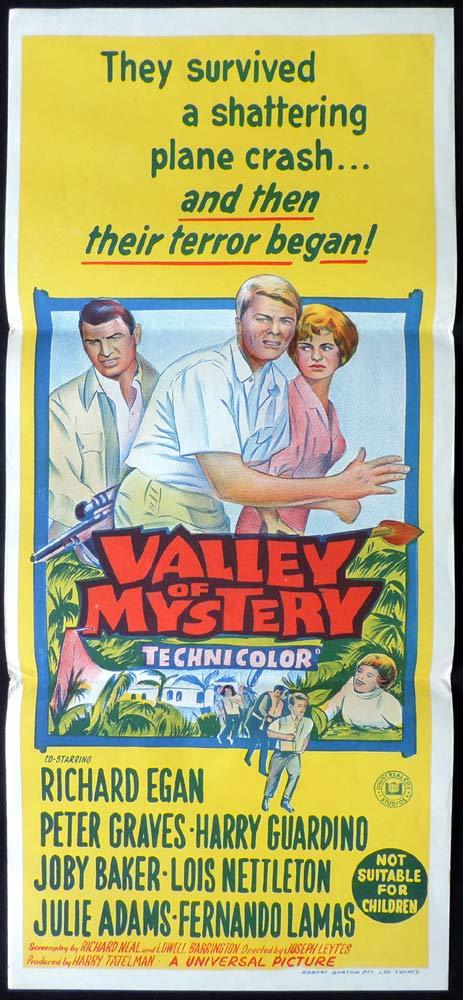 VALLEY OF MYSTERY Original Daybill Movie Poster Richard Egan Peter Graves