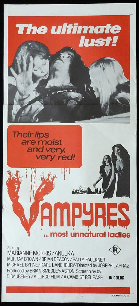 VAMPYRES Original Daybill Movie Poster Marianne Morris Vampires Horror