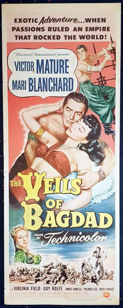VEILS OF BAGDAD Movie Poster Victor Mature US Insert