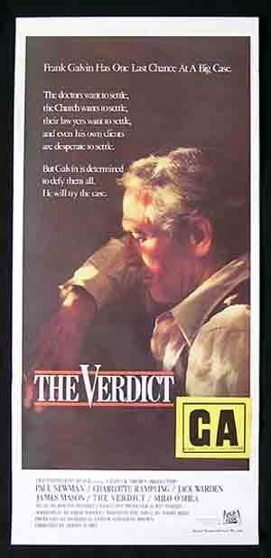 THE VERDICT Daybill Movie poster Paul Newman James Mason Charlotte Rampling