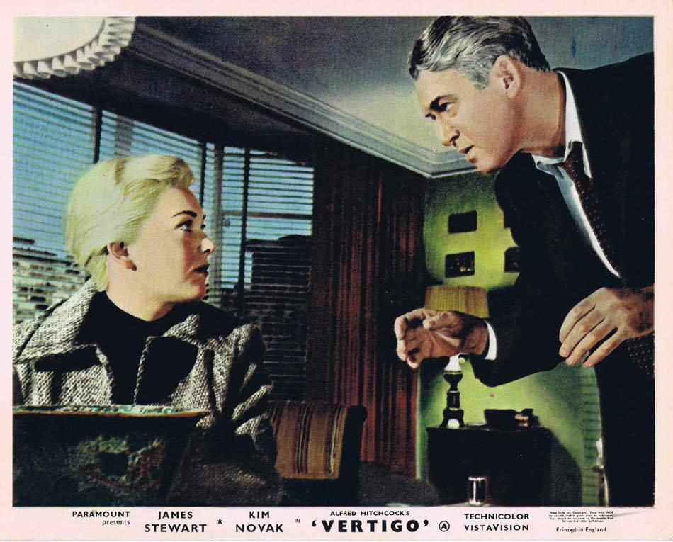VERTIGO Front of House Movie Still 2 8 x 10 James Stewart Alfred Hitchcock