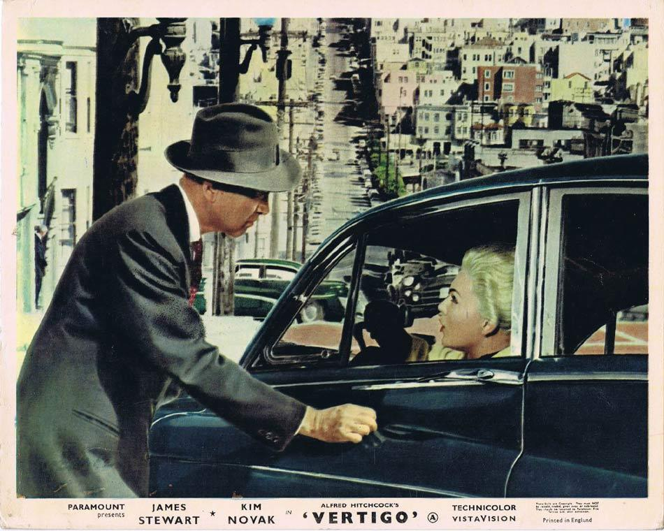 VERTIGO Front of House Movie Still 5 8 x 10 James Stewart Alfred Hitchcock