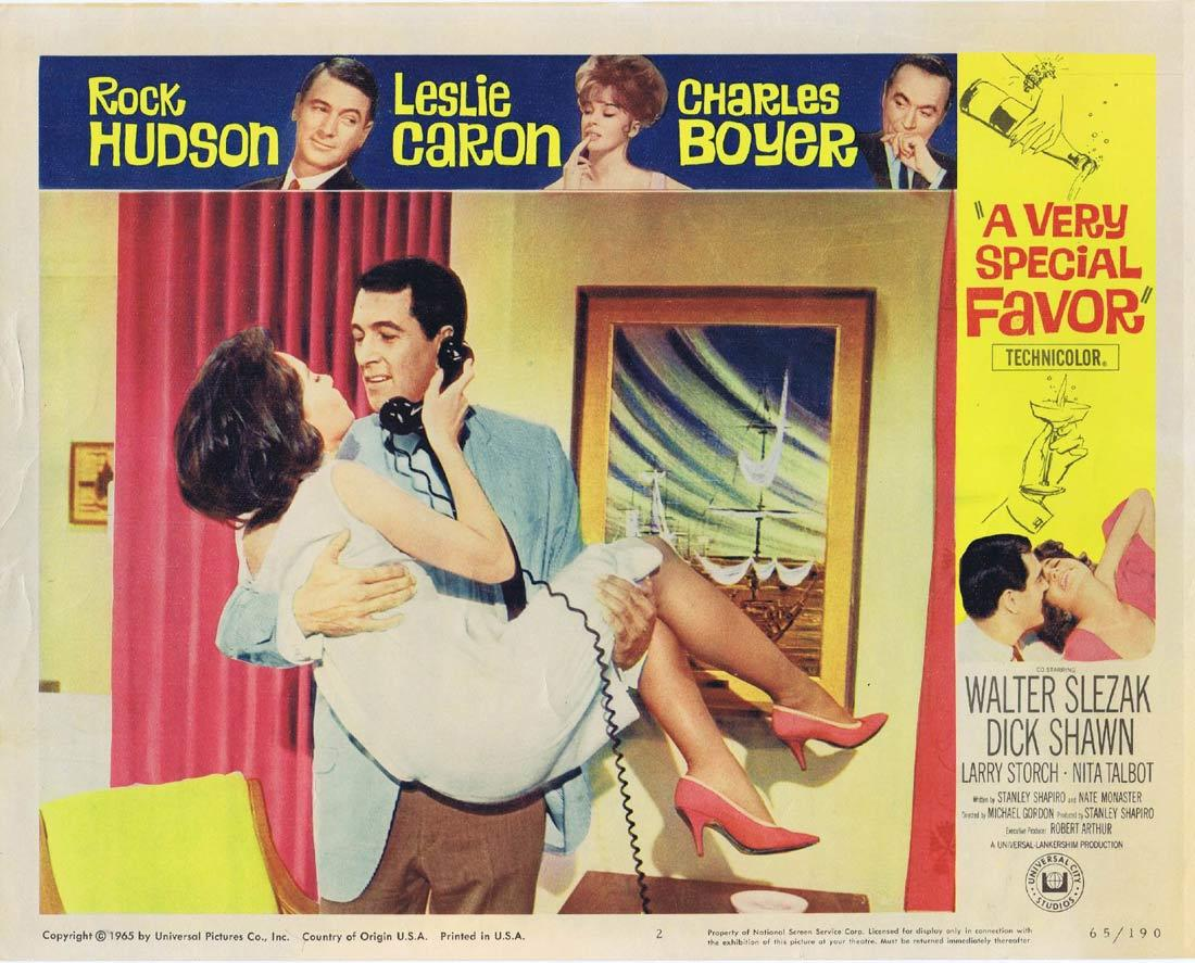 A VERY SPECIAL FAVOR Lobby Card 2 Rock Hudson Leslie Caron Charles Boyer