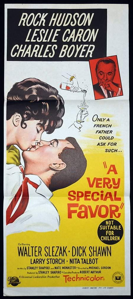 A VERY SPECIAL FAVOR Original Daybill Movie poster Rock Hudson Leslie Caron