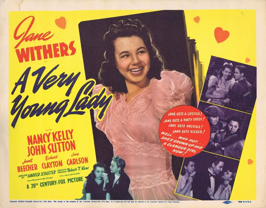 A VERY YOUNG LADY Original Title Lobby Card Jane Withers Nancy Kelly
