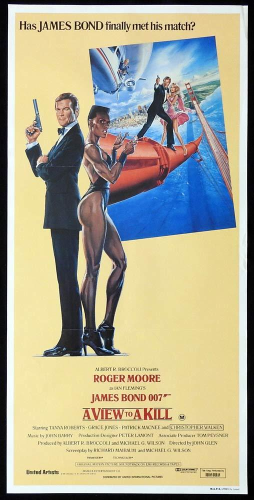 A VIEW TO A KILL Original Daybill Movie Poster Roger Moore James Bond